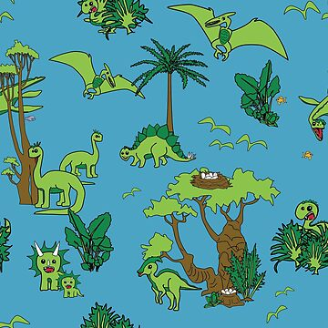 Happy Dinosaurs by TooCoolUnicorn