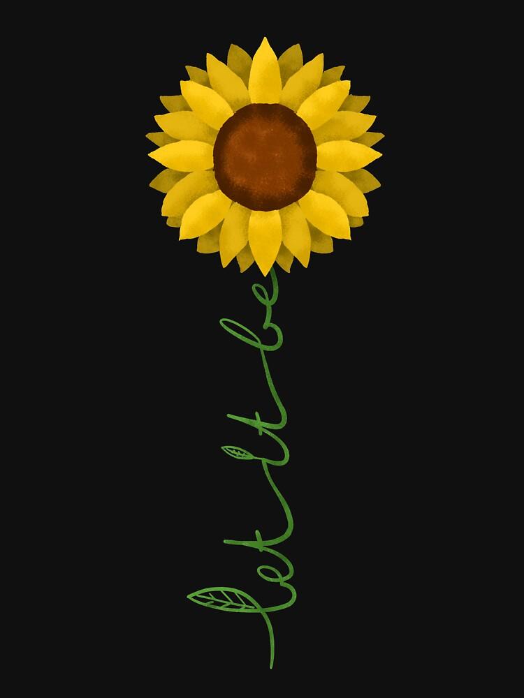 Sonnenblume Natur - Let it Be von Ventein