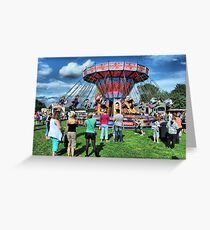The Roundabout at Hawkesbury Upton Fair and Horticultural Show.   Greeting Card