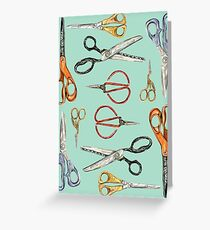 Scissors Collection Greeting Card