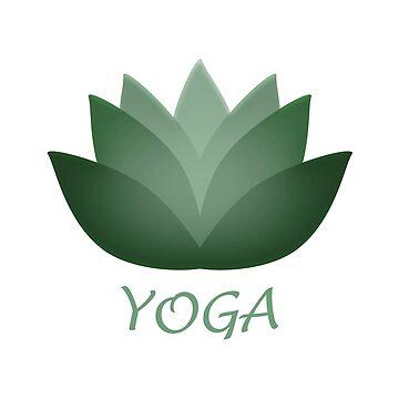 Green Yoga Lotus Flower by Eggtooth