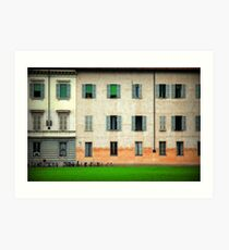 House and bicycles Art Print