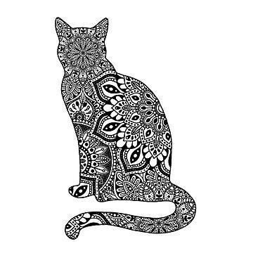 Gato de Mandala de NicoleHarvey