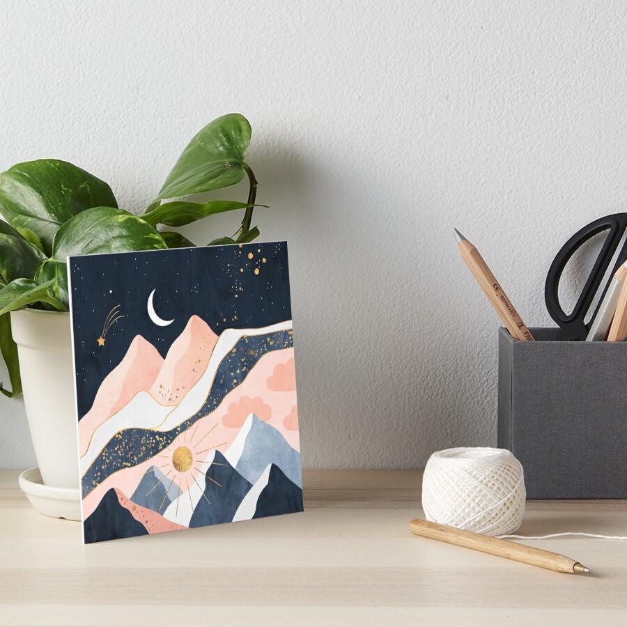 Night And Day Art Board Print