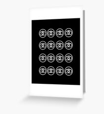 Camera icons white Greeting Card