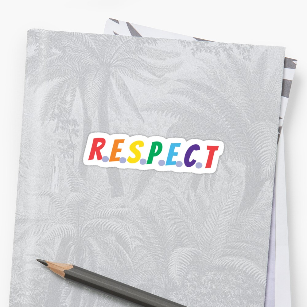 RESPECT (rainbow colors) Sticker