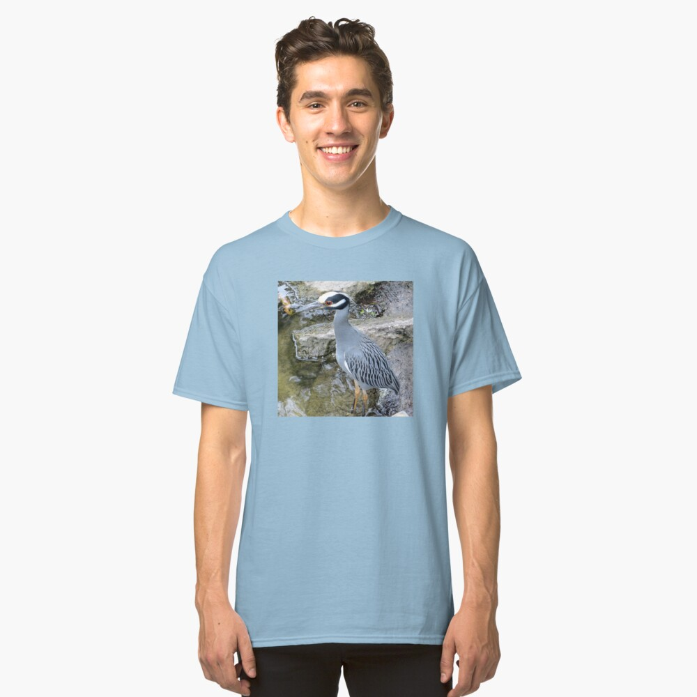 Yellow Crowned Night Heron Classic T-Shirt Front