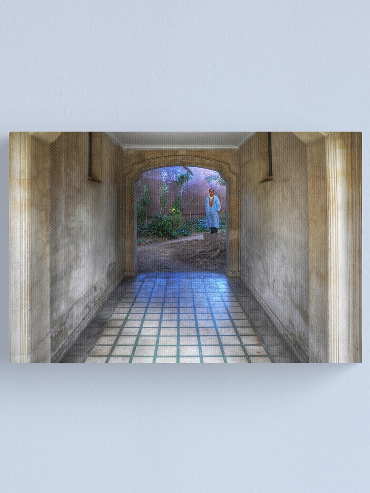 Alternate view of Blue tunnel Canvas Print