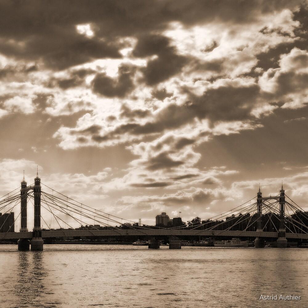 Chelsea Bridge, London - square crop by Astrid Authier