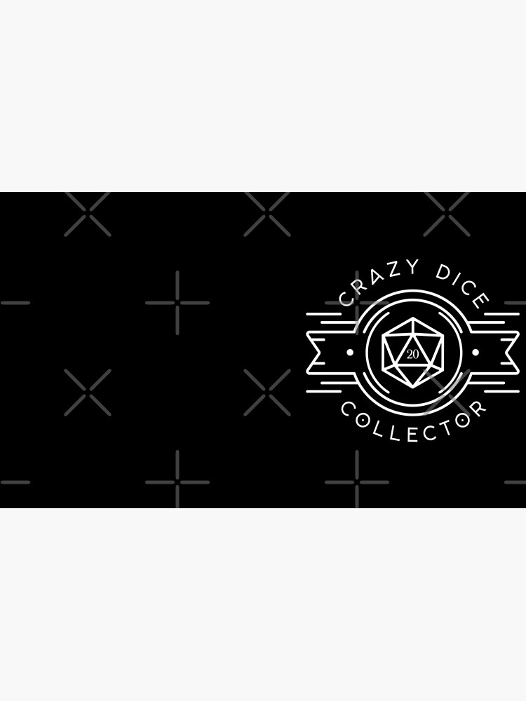 Crazy Dice Collector Addict Tabletop RPG Gaming by pixeptional