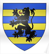 Póster French France Coat of Arms 16043 Blason Famille Sauzea