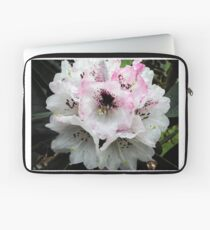 White and Pink Rhododendron Laptop Sleeve