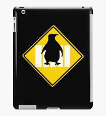 LINUX TUX PENGUIN CROSSING ROAD SIGN iPad Case/Skin