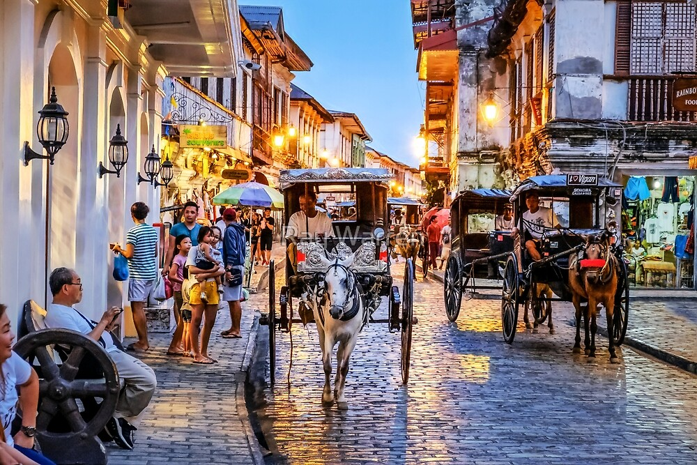 Rush Hour in Vigan City by Ray Warren