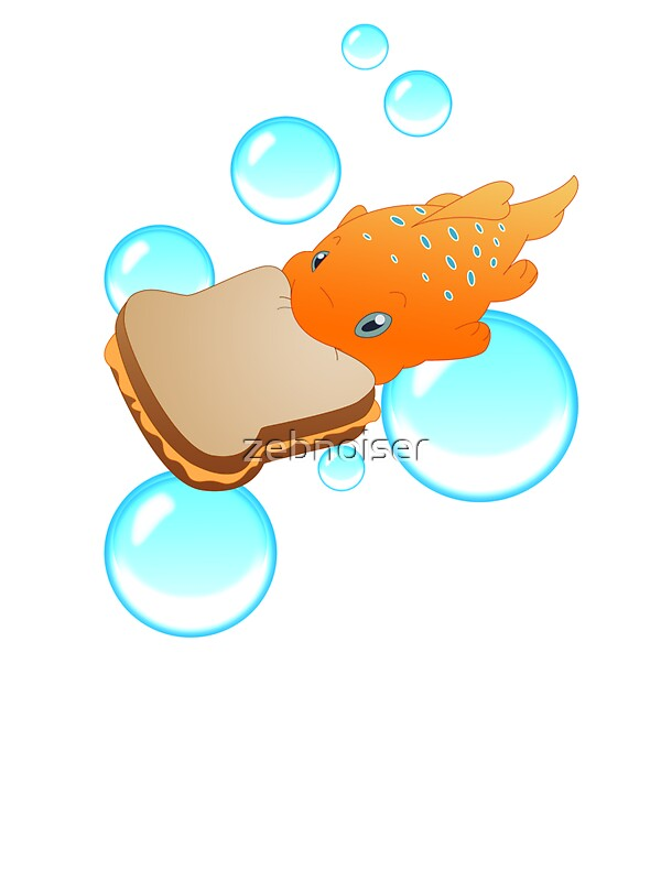 Pudge the fish stickers by zebnoiser redbubble for Pudge the fish