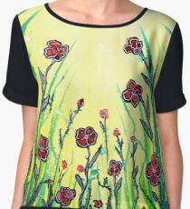 The Promise of Spring - Poppies Chiffon Top
