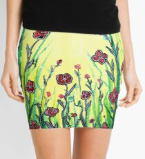The Promise of Spring - Poppies Mini Skirt