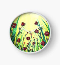 The Promise of Spring - Poppies Clock