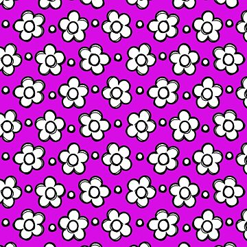 Cute Girly Doodle Flowers Purple Floral by creative321