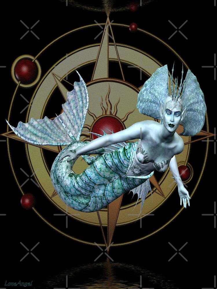 Alien Waters .. a mermaid in space by LoneAngel