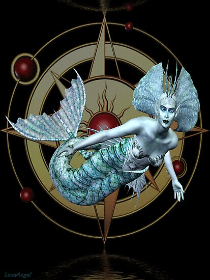 Alien Waters .. a mermaid in space by LoneAngel