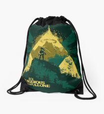 It's Dangerous To Go Alone Drawstring Bag