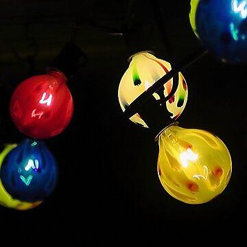 Colored Glass Tye Dye Lighted Globe Lights Wallpaper by nicoletteabides