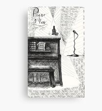 Piano Man Lyrics Poster Canvas Print