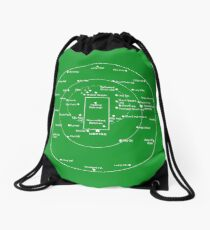 CRICKET PITCH POSITIONS Drawstring Bag