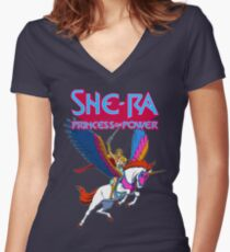 She-Ra Princess Of Power Women's Fitted V-Neck T-Shirt