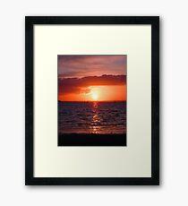 Poole Harbour Sunset - July 2009 Framed Print