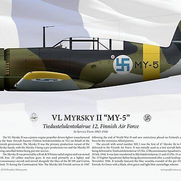 """VL Myrsky II """"MY-5"""" - Finnish Air Force by nothinguntried"""
