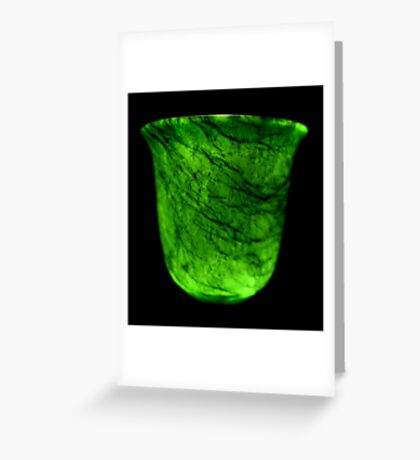 Dark & Alone - What Is It? - Jade Drinking Tumbler Greeting Card