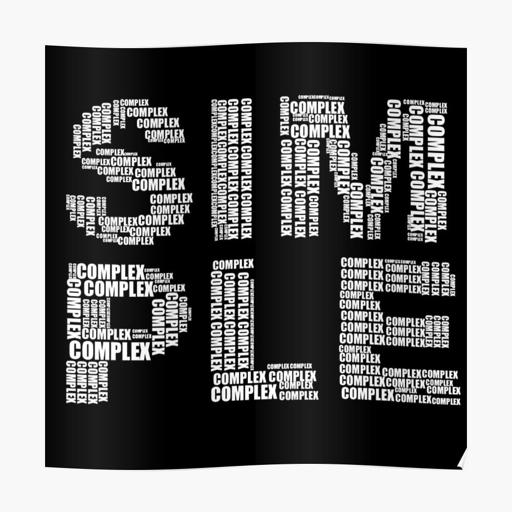 Einfach und komplex Poster