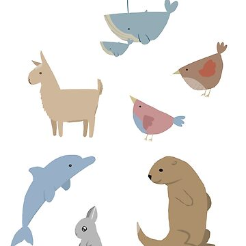 Assorted Animal Stickers by stilo29