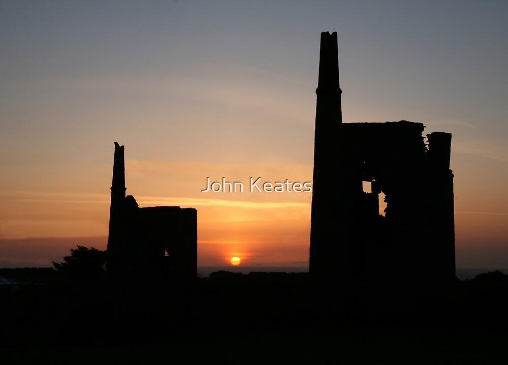 Tin mines at sunset by John Keates
