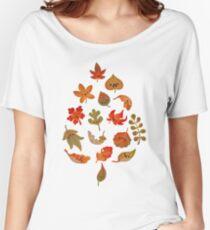Camiseta ancha Tristes hojas caídas