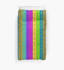 Stripes with Floral Design Duvet Cover