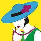 Madame - Blau-Grün-Gelb von WACHtraum