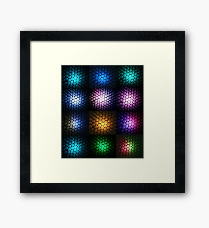 Straw-berry Collage Framed Print