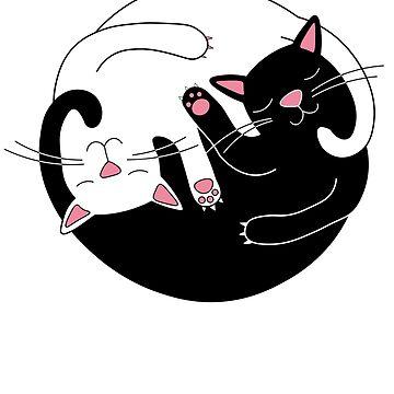 yin yang cats by Lips1993