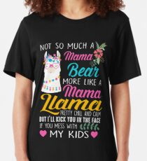 Not so much a Mama Bear more like a Mama Llama Slim Fit T-Shirt