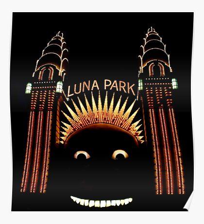 Looney Park - Luna Park at Night - Sydney - Australia Poster