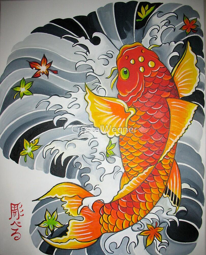 Lucky koi fish by crystalwegner redbubble for Koi artwork