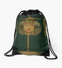 Woman in the Mirror Drawstring Bag
