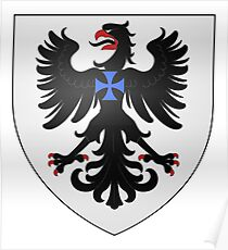 Póster French France Coat of Arms 16070 Blason Famille Villeblanche