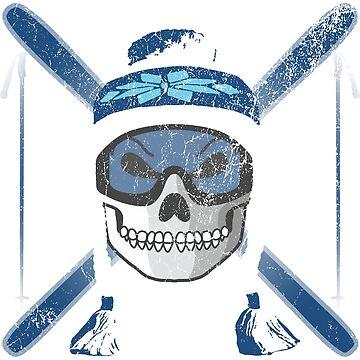 Ski Skull - Blue | Skiing Designs | DopeyArt by DopeyArt