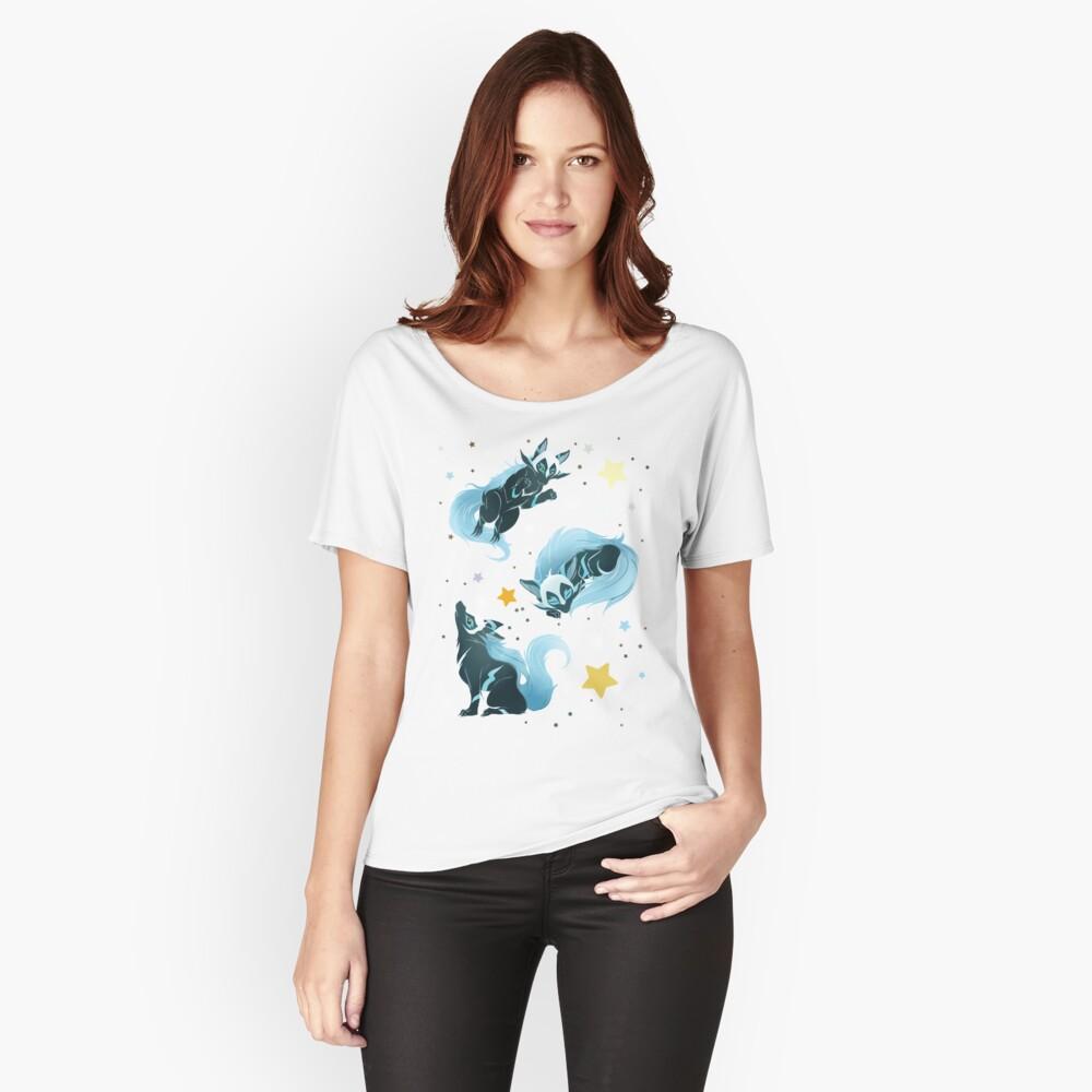 Kosmischer Wolf Loose Fit T-Shirt