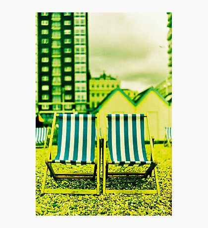 Oh I do like to be beside the seaside Photographic Print