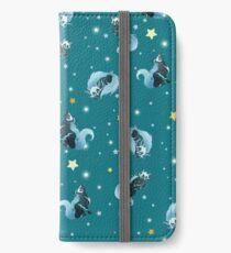 Blue Cosmic Wolf iPhone Wallet/Case/Skin